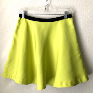 Forever 21 Neon Green Short Skirt SZ Med